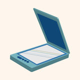 Computer theme scanner elements vector. Cartoon vector illustration Royalty Free Stock Photography