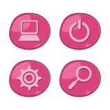 Computer theme set icon Stock Images