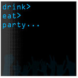 Computer themed bar menu background Stock Images