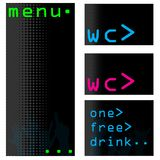 Computer themed bar menu set Royalty Free Stock Photos