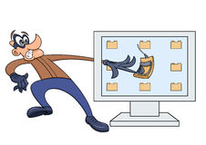 Computer thief has fallen into the trap 2 Royalty Free Stock Photo
