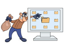 Computer thief illustration 2 Stock Photo