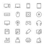Computer Thin Icons Royalty Free Stock Photo