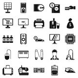 Computer things icons set, simple style. Computer things icons set. Simple set of 25 computer things vector icons for web isolated on white background Royalty Free Stock Photography