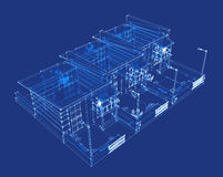 Three-dimensional projection of the building Stock Images
