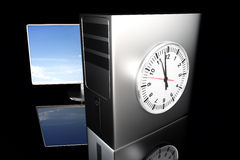 Computer Time Royalty Free Stock Photos