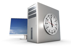 Computer Time Royalty Free Stock Image