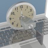 Computer Time Lock Stock Photo