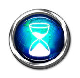 Computer timer button Stock Image