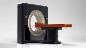 Computer tomographic scanner 3d illustration Royalty Free Stock Photos
