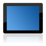 Computer touchscreen tablet pc in landscape Stock Images