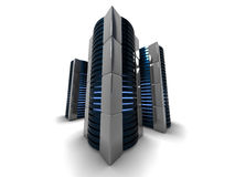 Computer towers Royalty Free Stock Photos
