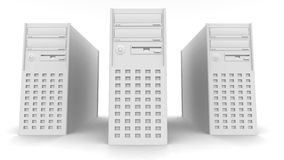 Computer Towers Royalty Free Stock Photo