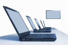 Computer training Stock Photo