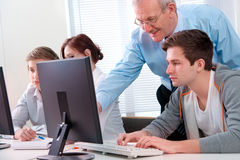 Computer training Royalty Free Stock Photos
