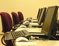 Computer Training Classroom Royalty Free Stock Image