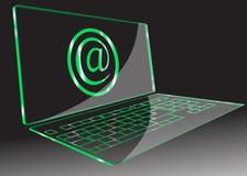 Computer trasparente. Vettore Immagini Stock