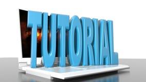 Computer tutorial stock video footage