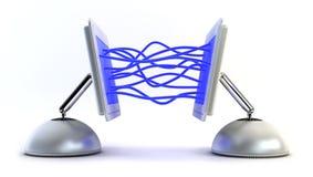 Computer twee communiceert met elkaar Royalty-vrije Stock Fotografie