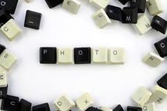 Computer und Computertechnologien auf Industrien und den Gebieten der menschlicher Aktivität - Konzept Ein Foto Das Wort wird auf lizenzfreie stockbilder