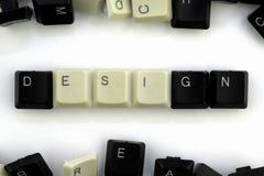 Computer und Computertechnologien auf Industrien und den Gebieten der menschlicher Aktivit?t - Konzept Entwurf auf einem weißen H stockbild