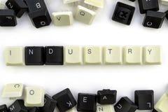 Computer und Computertechnologien auf Industrien und den Gebieten der menschlicher Aktivit?t - Konzept Industrie Auf einem wei?en lizenzfreie stockfotos
