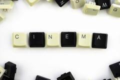 Computer und Computertechnologien auf Industrien und den Gebieten der menschlicher Aktivit?t - Konzept Kino auf einem weißen Hint lizenzfreies stockbild