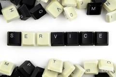 Computer und Computertechnologien auf Industrien und den Gebieten der menschlicher Aktivit?t - Konzept service Der Wortservice wi lizenzfreie stockfotos