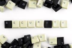 Computer und Computertechnologien auf Industrien und den Gebieten der menschlicher Aktivit?t - Konzept sicherheit auf einem wei?e stockfoto