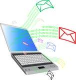 Computer und mail2 Stockfotos
