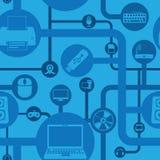Computer- und Peripheriemuster Lizenzfreie Stockfotos