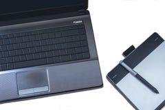 Computer und Stifttablette Lizenzfreie Stockbilder