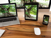 Computer und Tablette Lizenzfreie Stockbilder