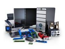 Computer und Teil Stock Abbildung