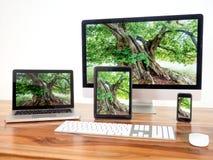 Computer und tragbare Geräte Stockfotos