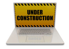 Computer Under Construction - 3D Royalty Free Stock Photos