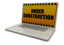 Computer Under Construction - 3D Royalty Free Stock Image