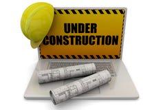 Computer Under Construction - 3D Stock Images