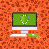 Computer under the virus attack Stock Image