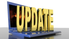 Computer Update stock video