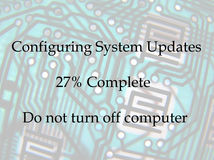 Computer updates notice Royalty Free Stock Photo