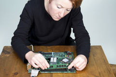 Computer Upgrade Royalty Free Stock Images