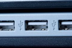 Computer USB Ports Stock Photography