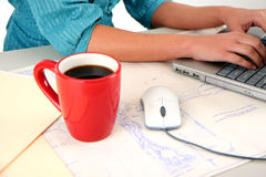 Computer User Stock Photo