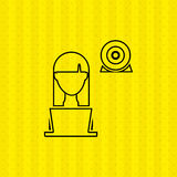 Computer user design. Illustration eps10 graphic Stock Photos