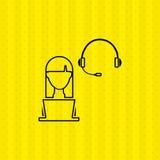 Computer user design. Illustration eps10 graphic Stock Image