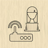 Computer user design. Illustration eps10 graphic Stock Photography