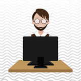Computer user design. Illustration eps10 graphic Stock Photo