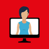 Computer user design. Illustration eps10 graphic Stock Images