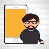 Computer user design. Illustration eps10 graphic Royalty Free Stock Images